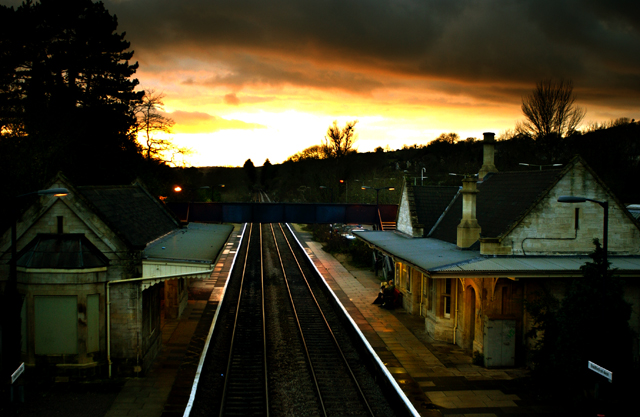 Peter Lang Train Station At Sunset
